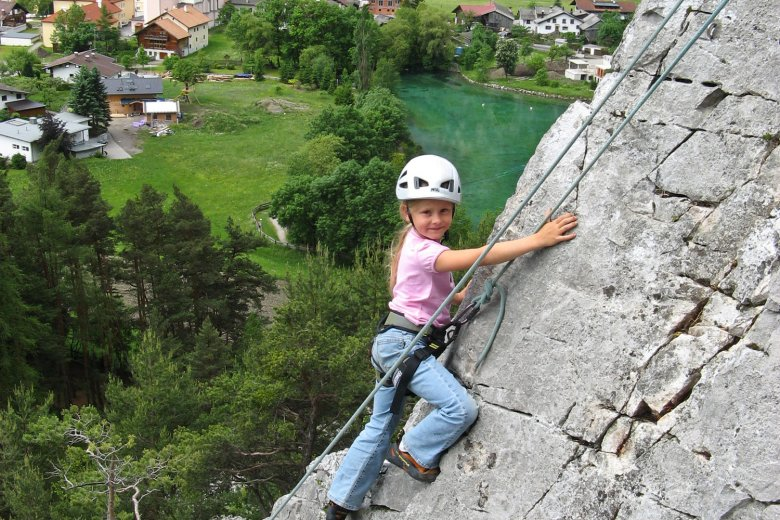 "Rock climbing at ""Botanical Garden"" in Nassereith. Photo Credit: Climbers Paradise"