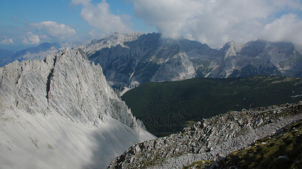 View from the Hafelekar to Karwendel, © Alpenpark Karwendel