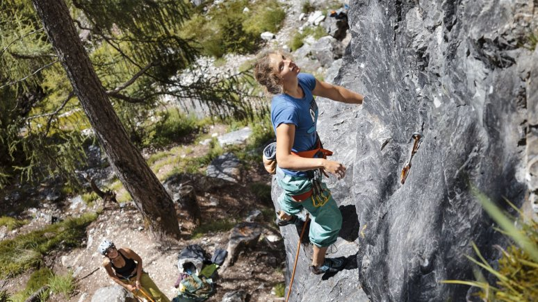 Climbing course at the Falkenstein climbing area near Matrei in East Tirol, © Tirol Werbung/Robert Pupeter