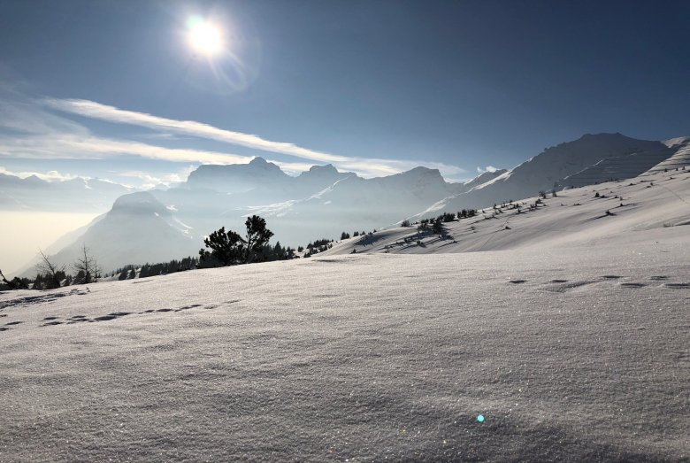 Winter Sun atop Blaser Mountain