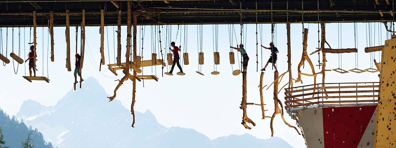 High rope adventure park at Area 47, © AREA 47