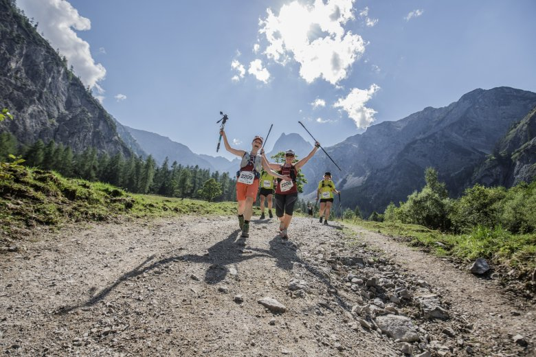 The Karwendelmarsch is a hiking competition in alpine terrain with two distances to choose from: 52 and 35 kilometres. Photo: Achensee Tourismus