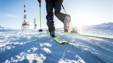 Ski touring on the pistes in the Patscherkofel ski resort, © Daniel Zangerl