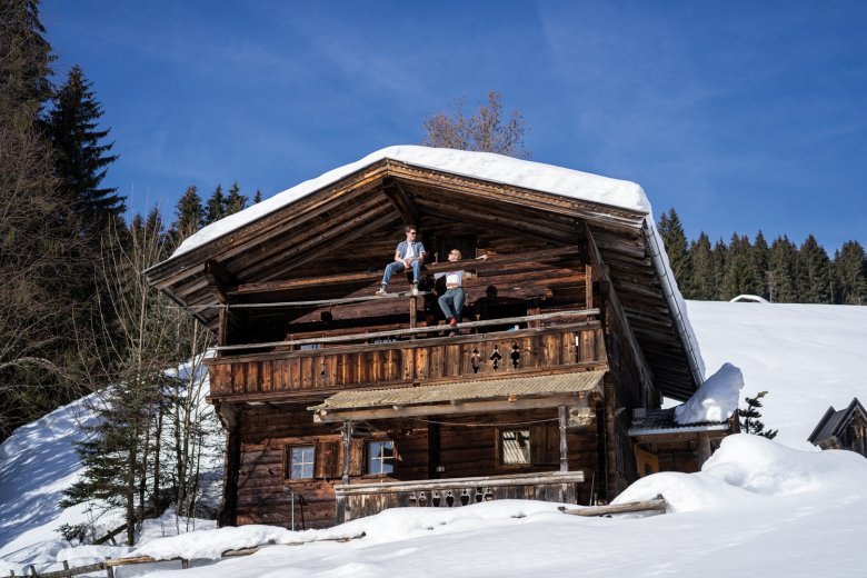 Quaint and rustic: Gfällhütte Cabin is a 350-year old timber structure at an elevation of 1,030 meters above sea level at the heart of the Kitzbühel Alps.