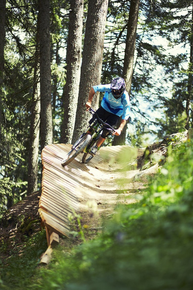 The Bikepark Serfaus-Fiss-Ladis has a special programme of events and activities in autumn for mountain bikers to enjoy one last blast before winter comes. Photo: Christian Waldegger