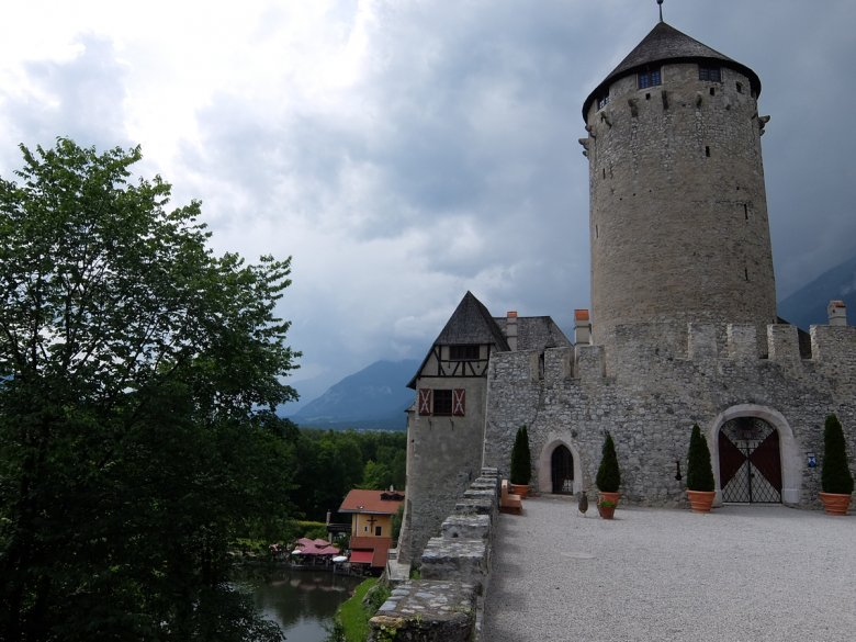The Spa is located in the tower at Matzen Castle.