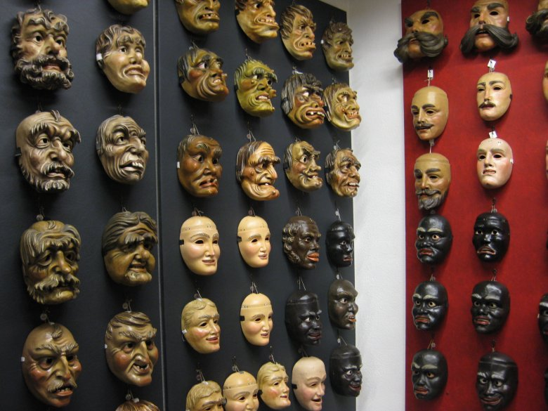 """The Nassereith Carnival Museum is home to the biggest carnival mask collection of the Alpine Region. The famous Nassereith Schellerlaufen Parade is one of the most important carnival parades in Tirol and was declared a """"World Cultural Heritage"""" by UNESCO in 2012. (Photography: Esther Wilhelm)"""