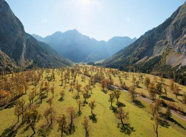 BU: The Große Ahornboden is a popular destination in autumn. Photo: Tirol Werbung