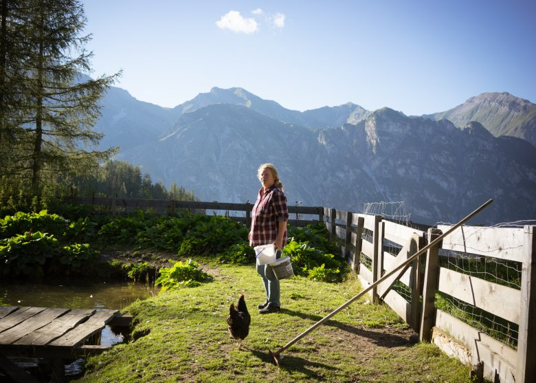 Ingrid also keeps chickens at her hut at 1,750 metres above sea level.