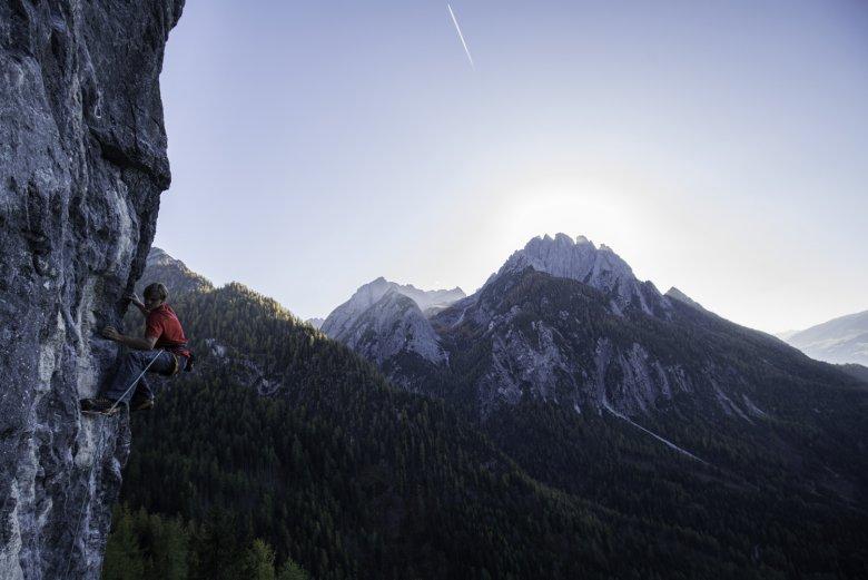 Climbing in East Tirol. Photo: Tirol Werbung / Mair Johannes