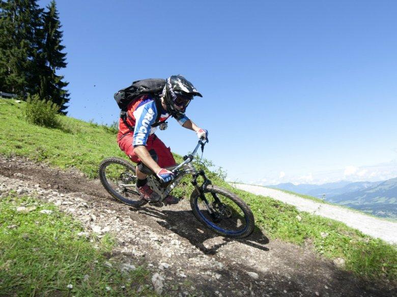 Mountainbike Fleckalmtrail Kirchberg_(c) Tirol Werbung_Michael Werlberger