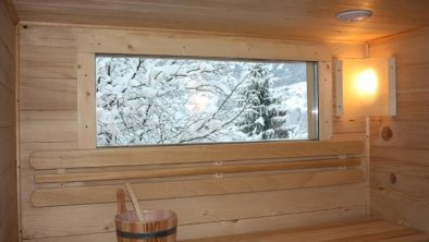 Blick von der Sauna aus