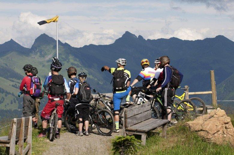 Bikeacademy groups near the Fleckalm. , © Tirol Werbung, Michael Werlberger