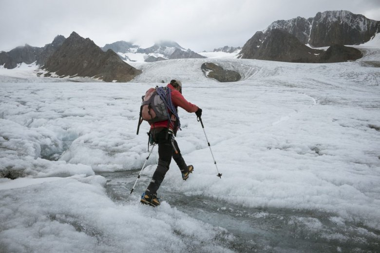 Vernagtferner Glacier – pictured here – will have completely retreated in 25 years, says Kilian.
