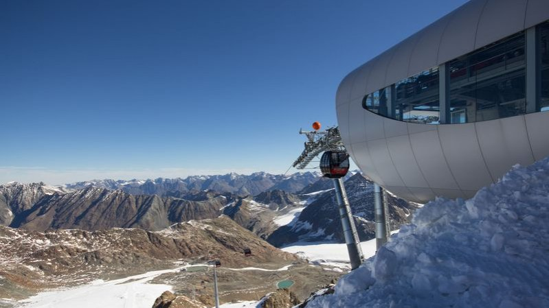 Wildspitzbahn cable car, © Pitztaler Gletscher