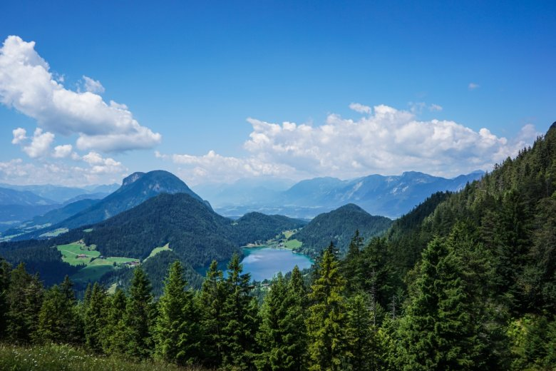 Stage 2: Fabian's view of the Hintersteiner See lake.
