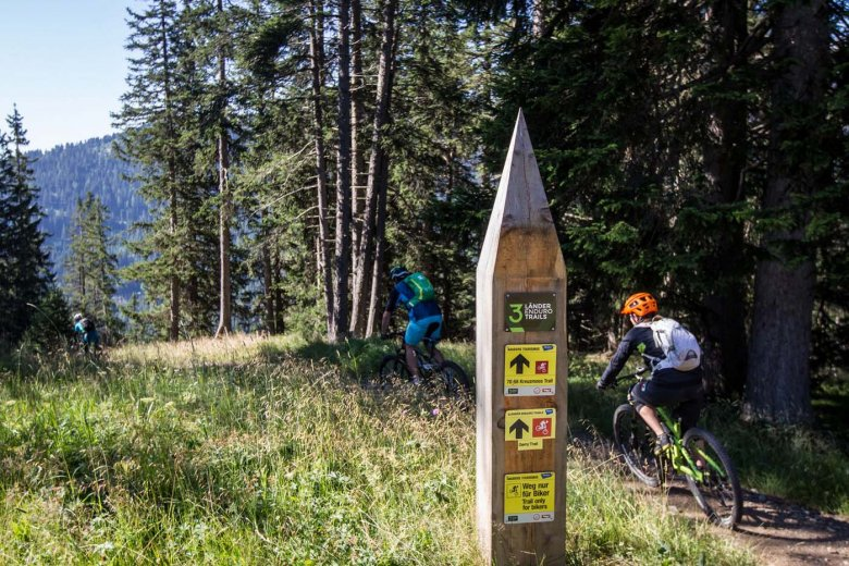 Bei aktuell 18 freigegebenen Mountainbike-Trails rund um Nauders...