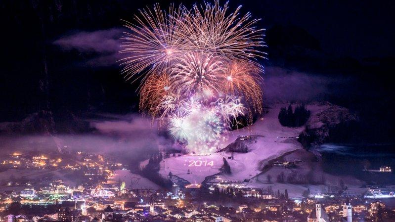 Stunning New Year's Fireworks Display in Kitzbühel, © Michael Werlberger