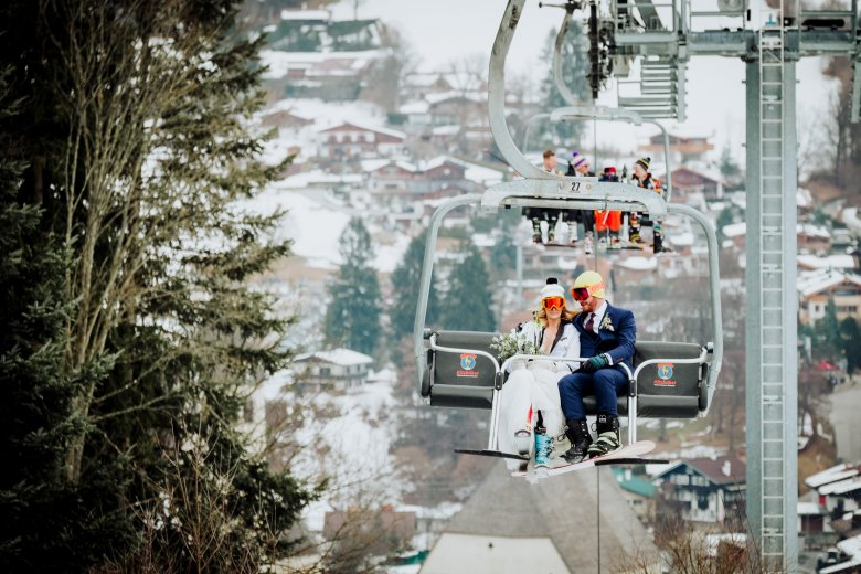 Wedding dream location for ski lovers