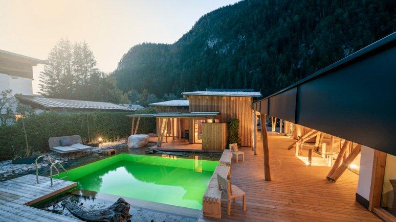 pool area at Hotel aufatmen, © Hotel aufatmen
