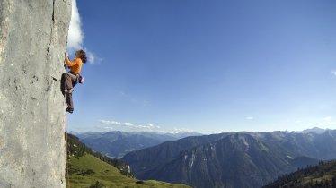 Rock climbing near Lake Achensee, © Tourismusverband Achensee