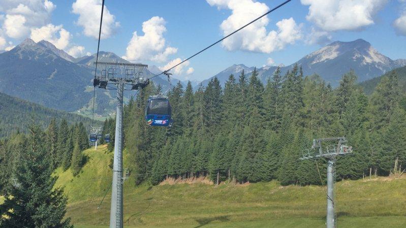 Ehrwalder Almbahn cable car, © Tirol Werbung