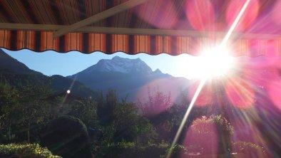 Blick von der Terrasse Richtung Grünberg