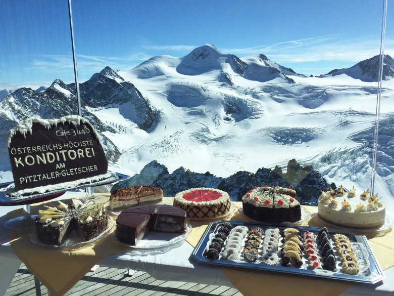 Café 3.440 is Austria's highest coffee bar and pastry shop