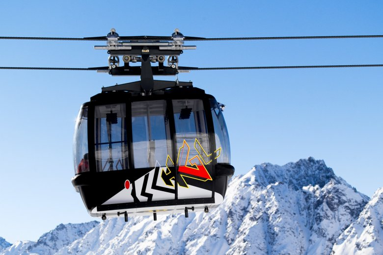 The Silvrettabahn cable car in Ischgl , © TVB Paznaun-Ischgl