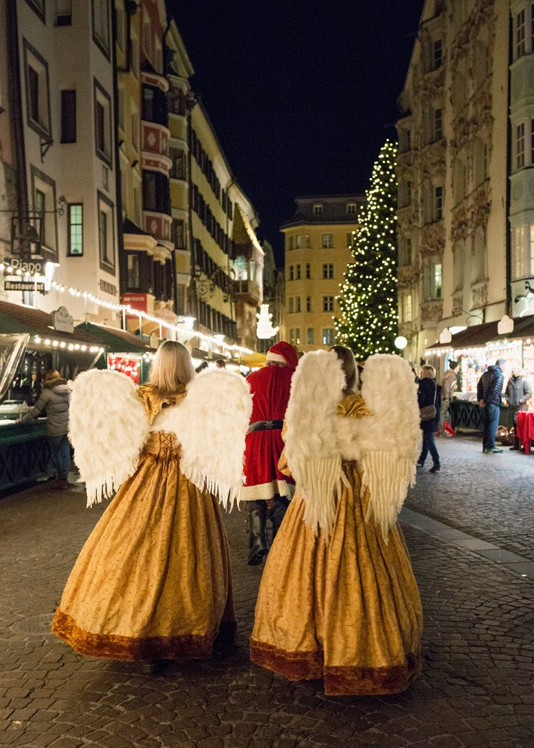 Saint Nicholas traditionally arrives on 6 December, accompanied by angels. Photo: Lisa Hörterer