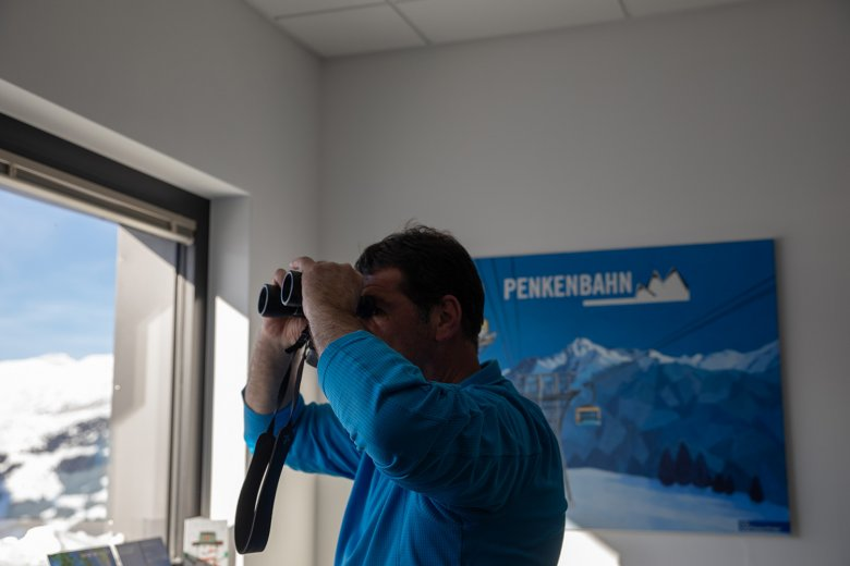 From his office, Josef Geisler oversees the smooth running of all operations of the ski area.