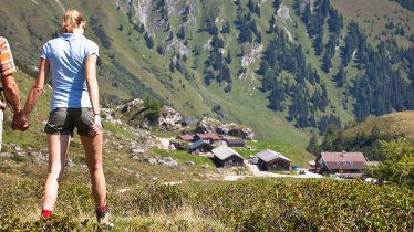 Hike from Lanersbach to the Stoankasern mountain dairy, © TVB Tux-Finkenberg