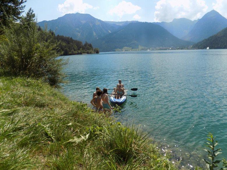 Wild swimming in Achensee