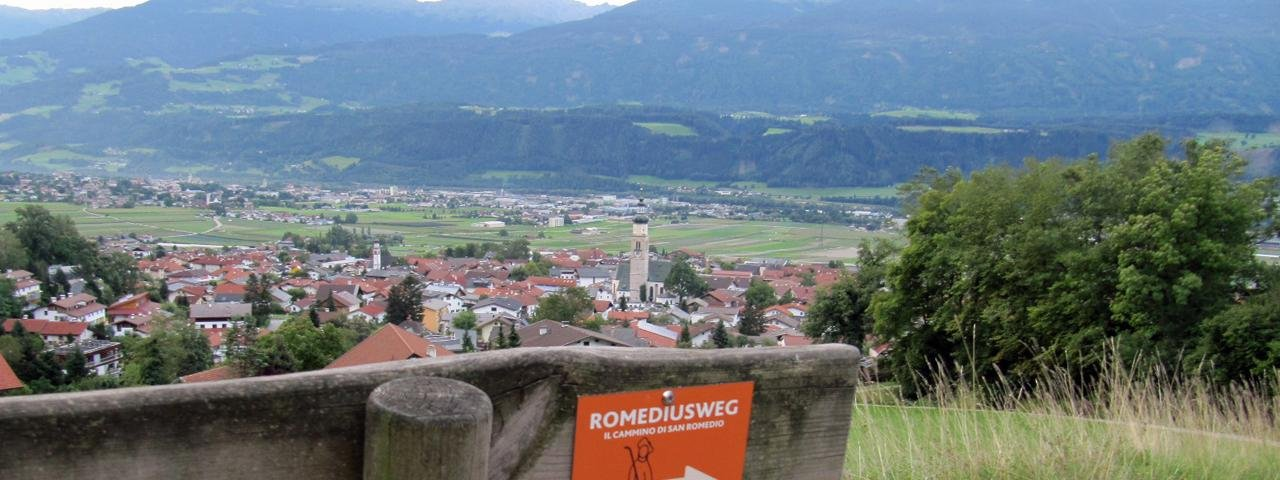 The start of the Romedius Pilgrimage Trail in Thaur, © Staud