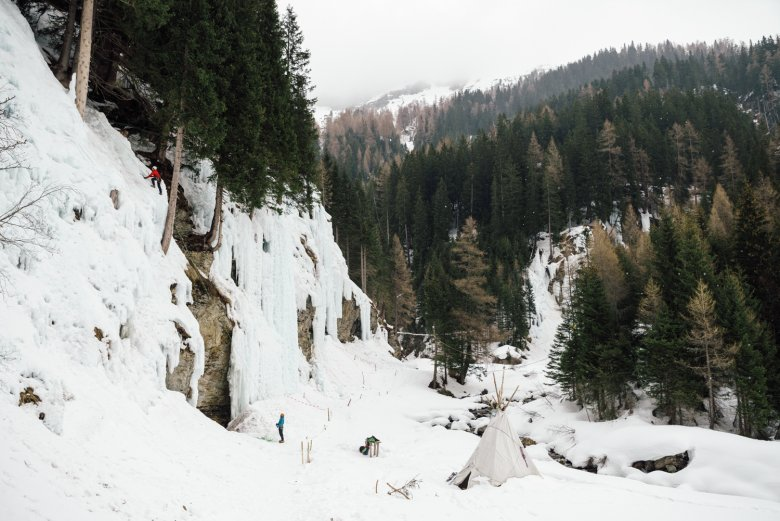 At the Eispark Osttirol there are more than 70 routes with different levels of difficulty. The icefalls have been designed artificially.
