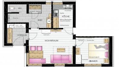 Landhaus Mader Hintertux Grundriss Apartment (Kopi