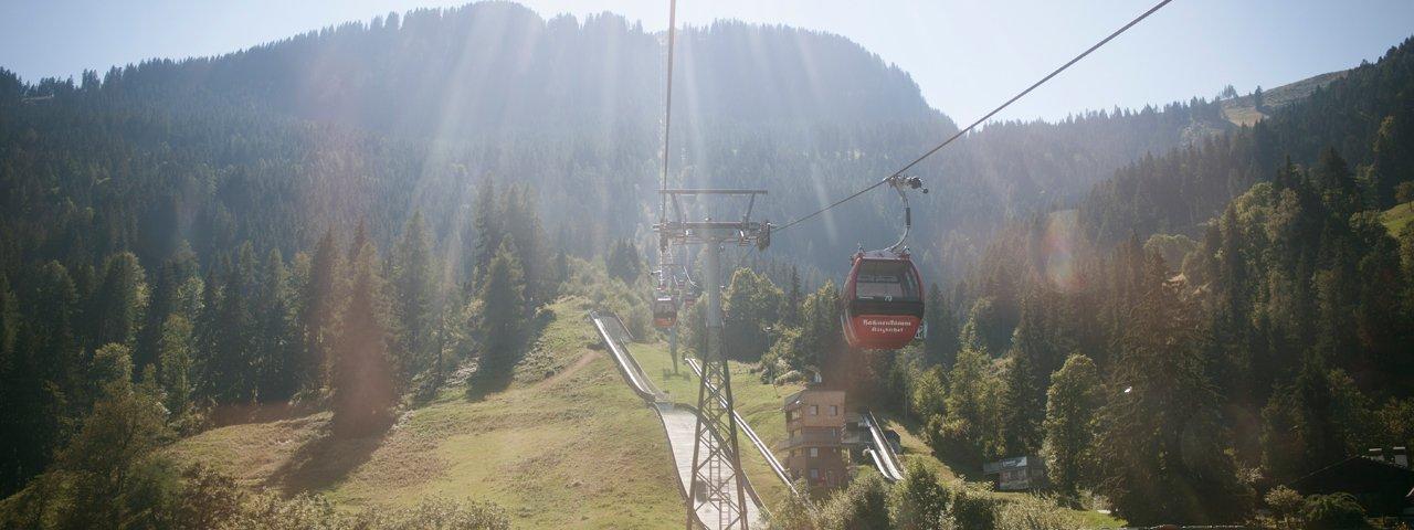 The Hahnenkammbahn cable car in Kitzbühel, © Tirol Werbung/Jens Schwarz