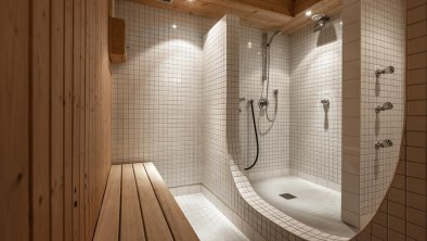 Duschen im Saunabereich