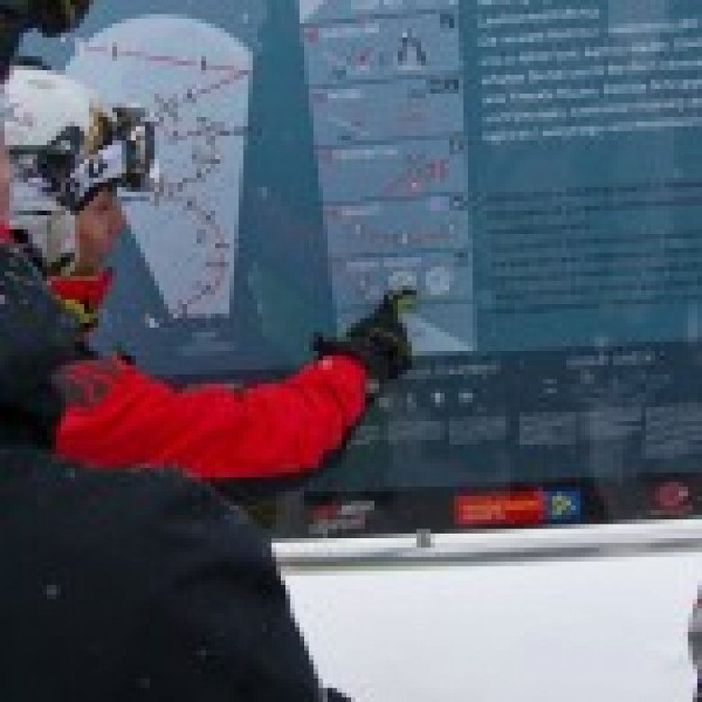 The Freeride Point in Hochfuegen provides important information about current weather and avalanche conditions