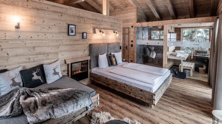 Bedroom, Chaletdorf Benglerwald, © Chaletdorf Benglerwald