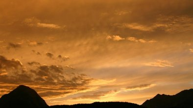 Sonnenuntergang vom Appartement Hohe Munde, © Peter Bodensohn