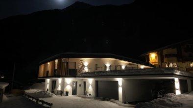 Apartment Jasmin im Winter bei Vollmond