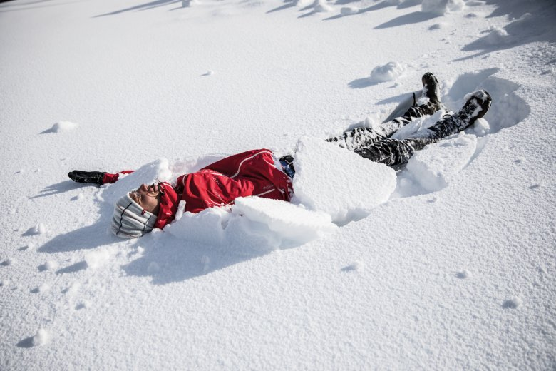 Heavenly! Who can make the best snow angel?