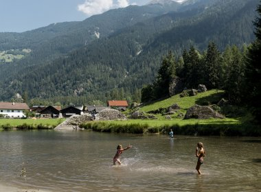 Swimming in Längenfeld, Ötztal Valley