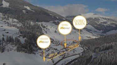 Lage Chalets Alpenhof