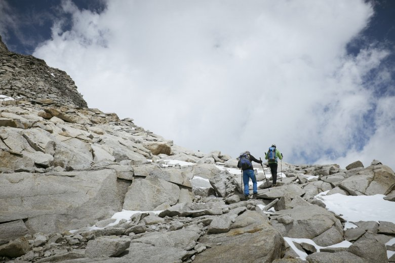 Through erythropoiesis, the body becomes powerful during a hike.
