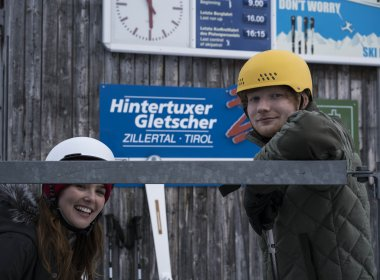 Ed Sheeran and Actress Zoey Deutch shooting on location at Hintertux Glacier (Photo Credit: Dan Curwin)