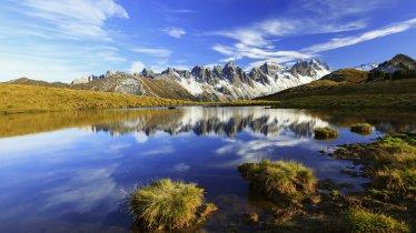 Salfeinssee lake with the Kalkkögel Mountains in the background, © TVB Innsbruck/Moser