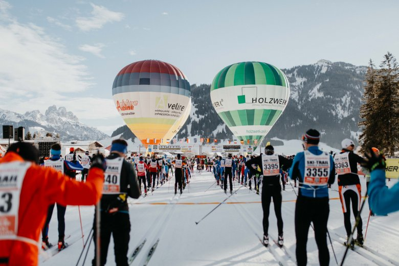 Thousands of skiers line up to tackle the Ski Trail each year. Photo Credit: Tirol Werbung / Charly Schwarz