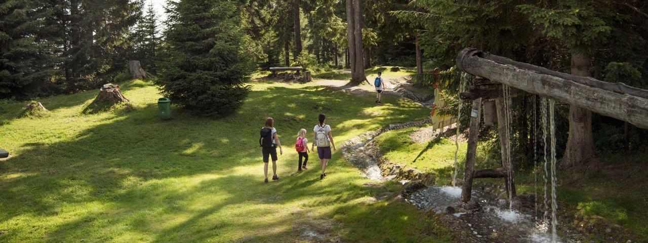 The water adventure area at Mutterer Alm, © Tirol Werbung/Frank Bauer